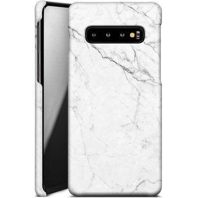 Samsung Galaxy S10 Smartphone Huelle - White Marble von caseable Designs