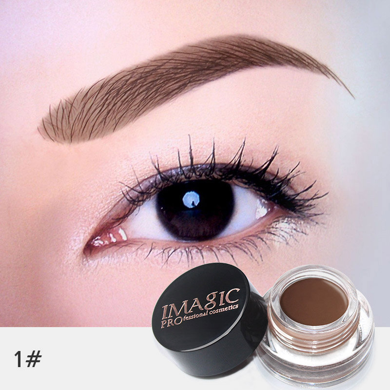 IMAGIC Professional Eyebrow Gel 6Colors Eyebrow Enhancer Cream Eyebrow Brush Makeup Set