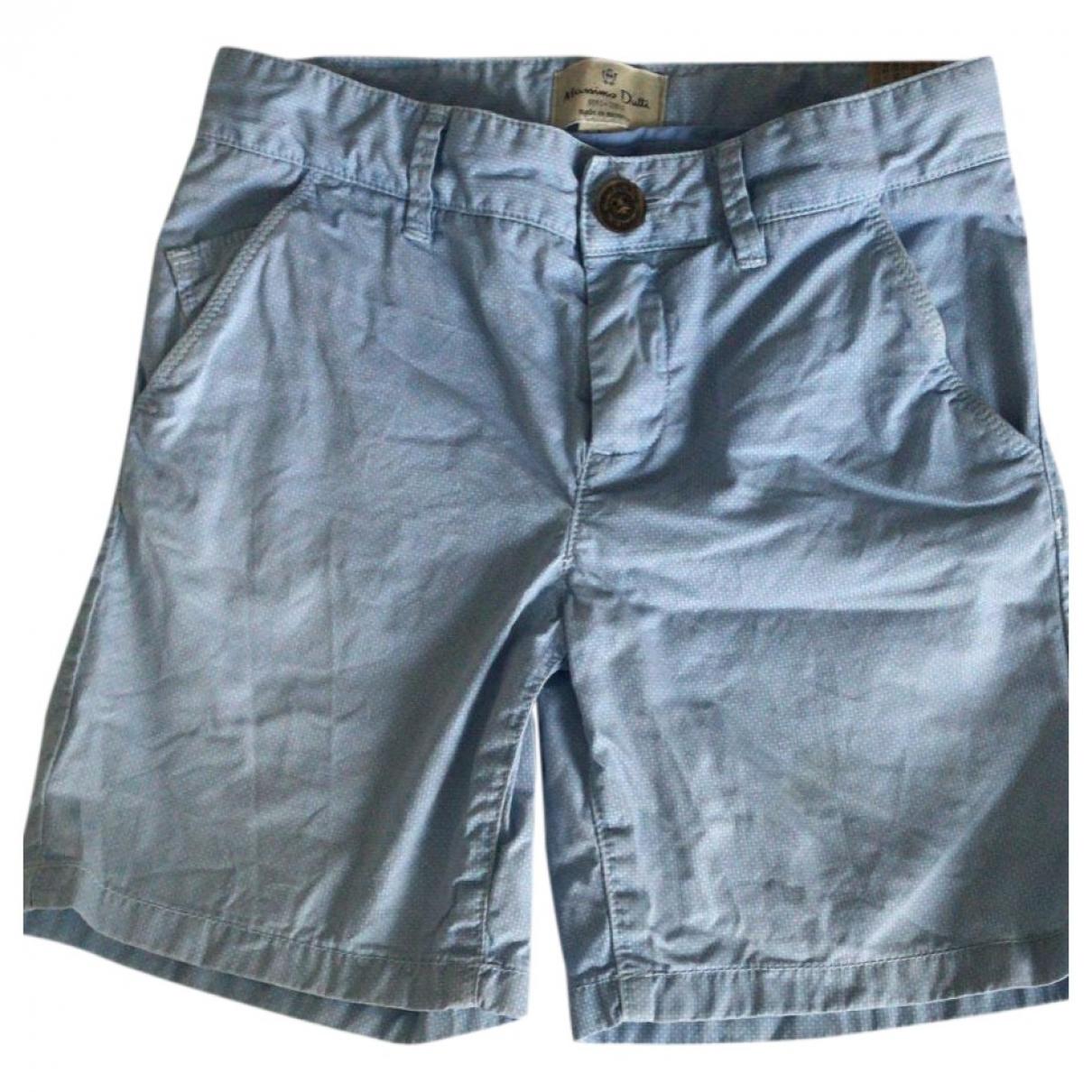 Massimo Dutti - Short   pour enfant en coton - bleu