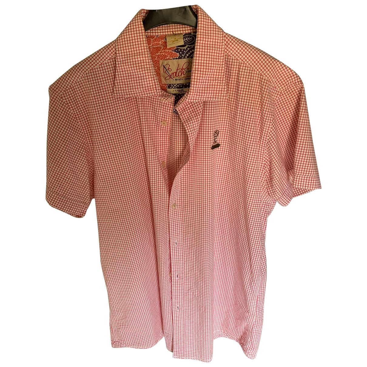 Scotch & Soda \N Hemden in  Rosa Baumwolle
