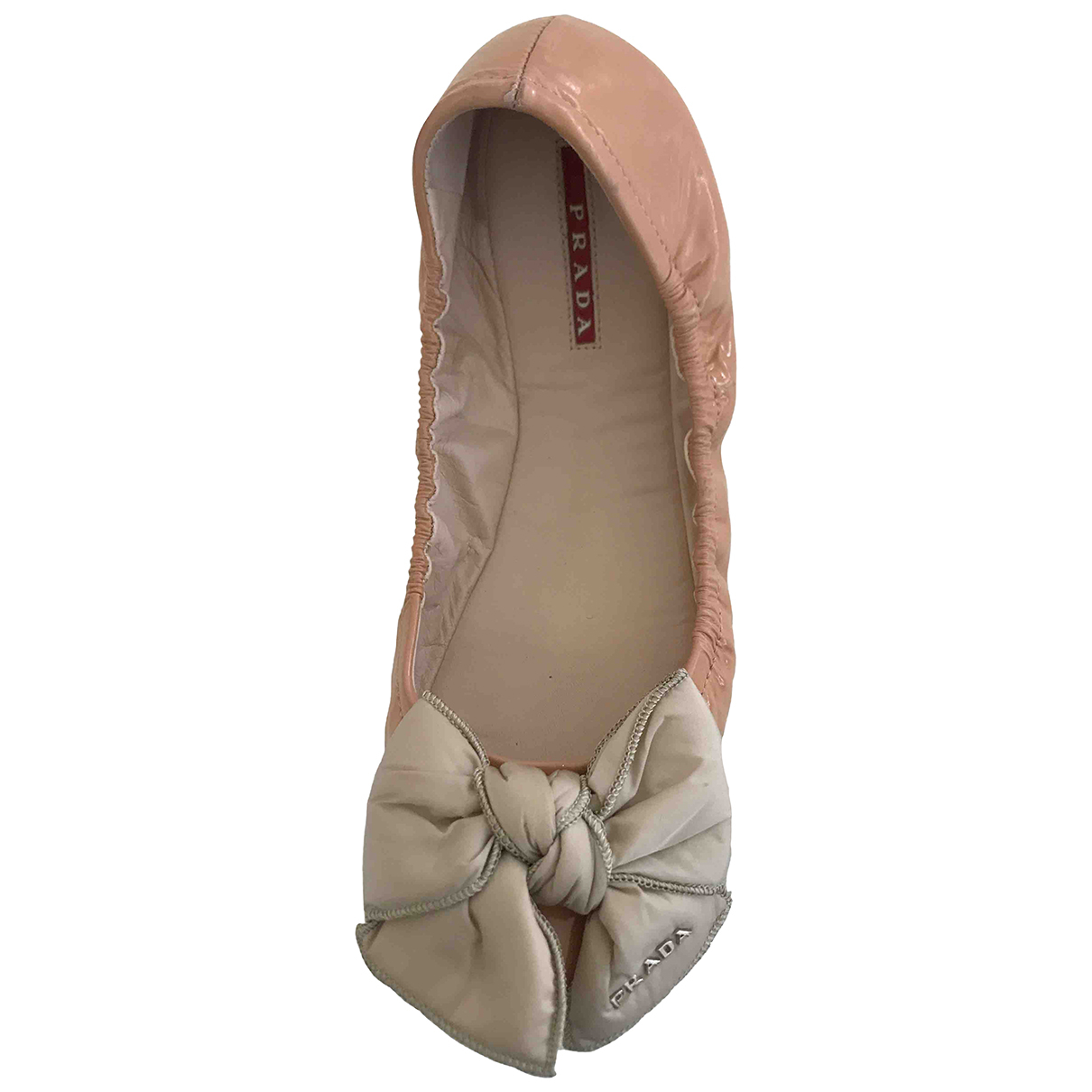 Prada \N Ballerinas in  Rosa Lackleder