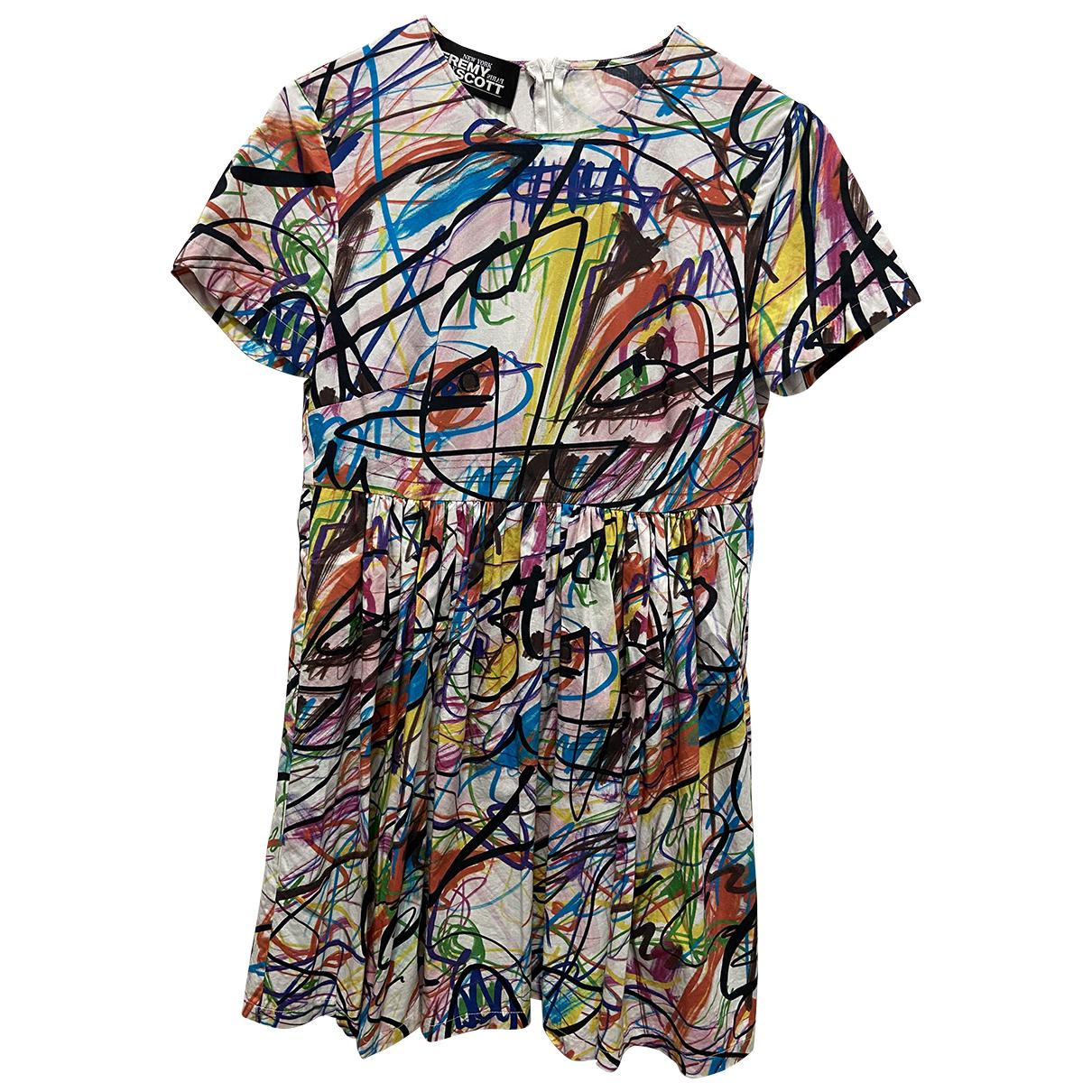 Jeremy Scott \N Multicolour Cotton dress for Women 38 IT