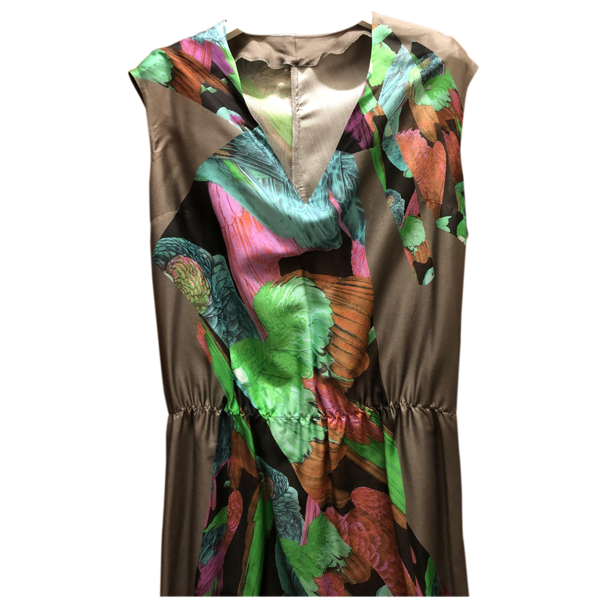 Non Signé / Unsigned N Multicolour Silk dress for Women 44 IT