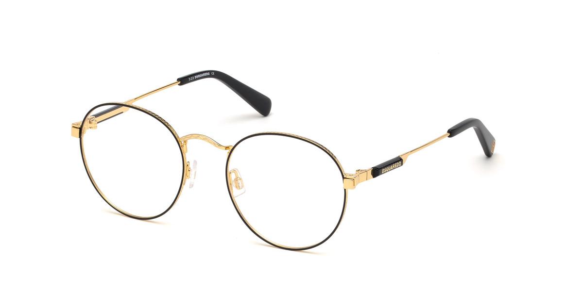 Dsquared2 DQ5283 030 Men's Glasses Gold Size 52 - Free Lenses - HSA/FSA Insurance - Blue Light Block Available