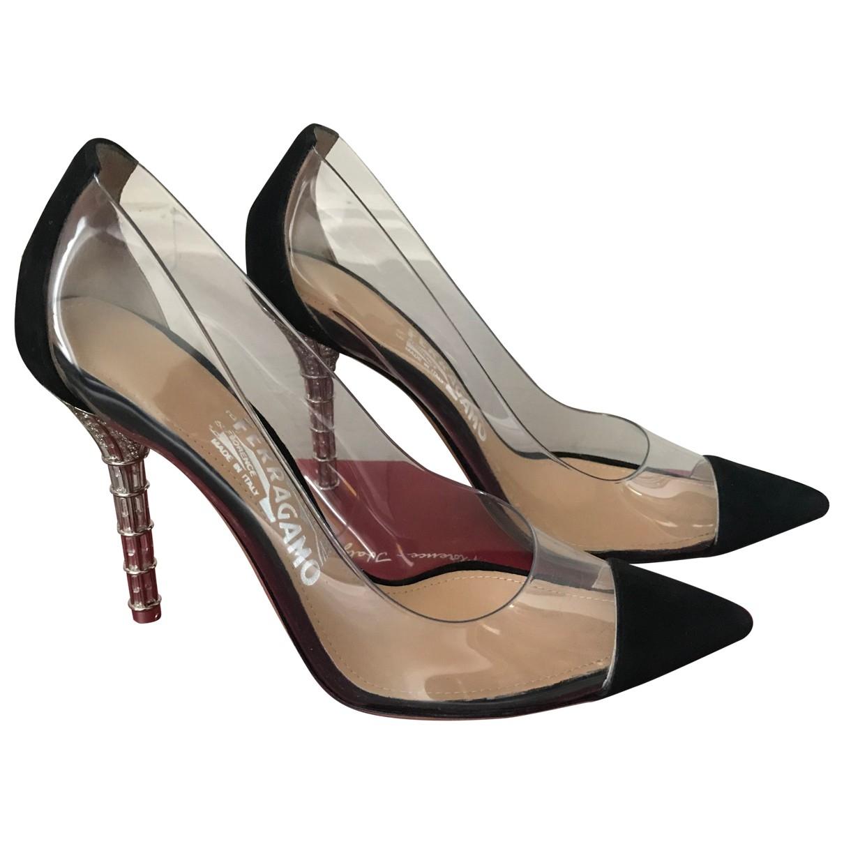 Salvatore Ferragamo \N Black Suede Heels for Women 36.5 EU