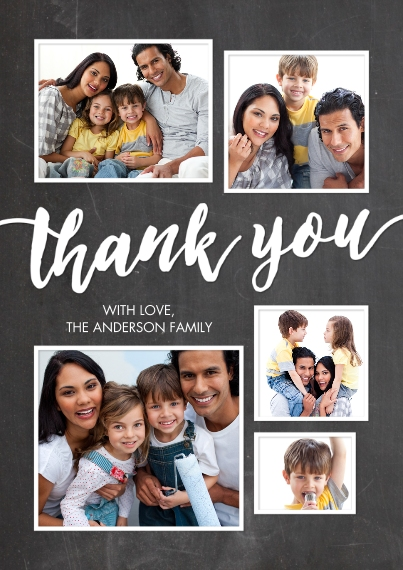 Thank You Cards 5x7 Cards, Standard Cardstock 85lb, Card & Stationery -Thank You Framed Collage by Tumbalina