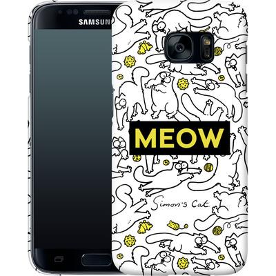 Samsung Galaxy S7 Smartphone Huelle - Meow von Simons Cat