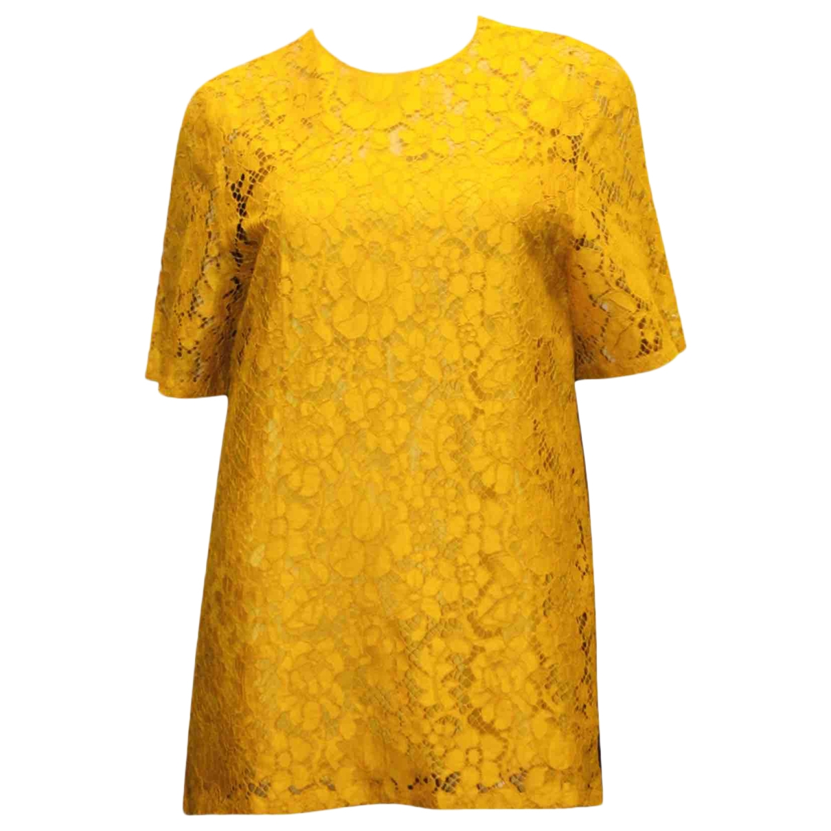 Prada \N Yellow Lace  top for Women 40 IT