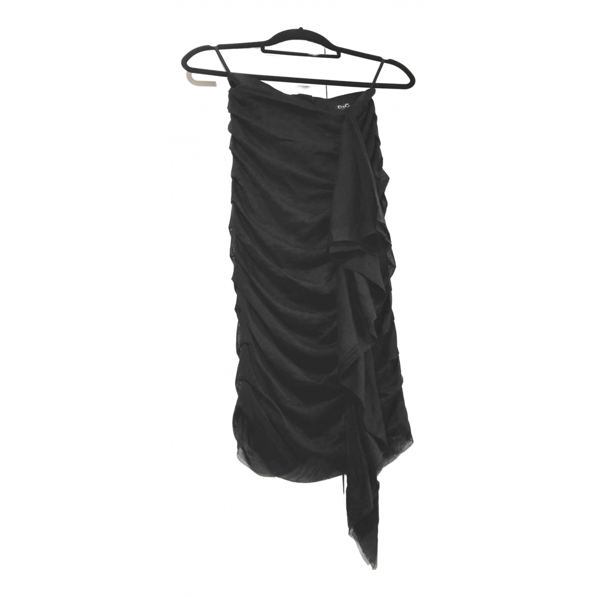 D&g - Jupe   pour femme en soie - noir
