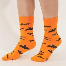 Socken mit Fledermaus Muster