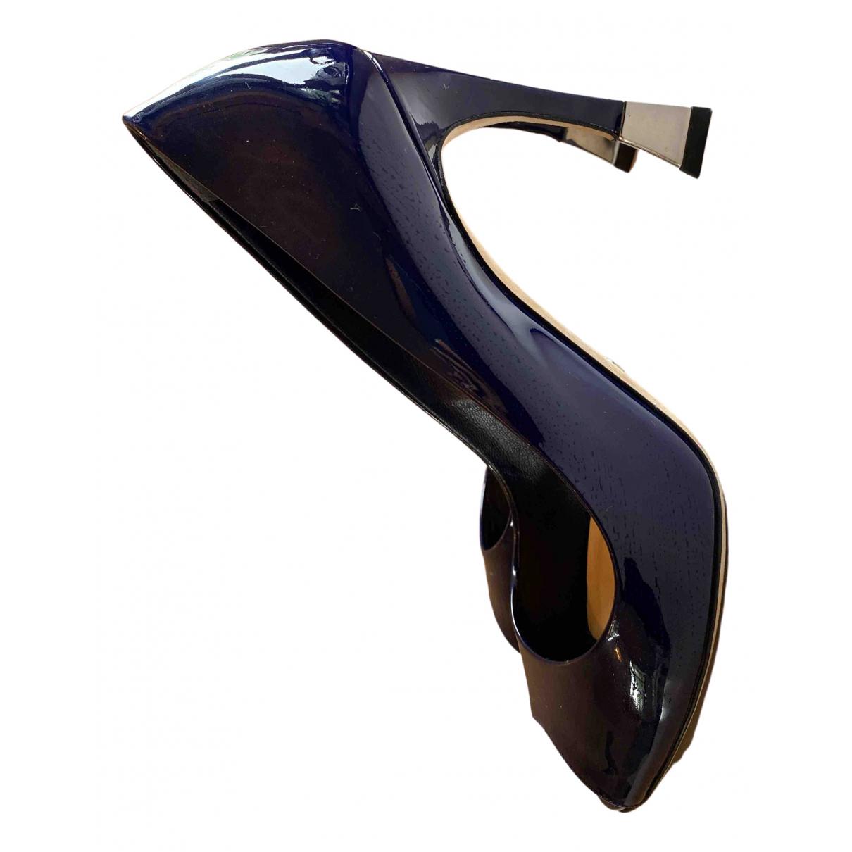 Dior \N Pumps in  Blau Lackleder