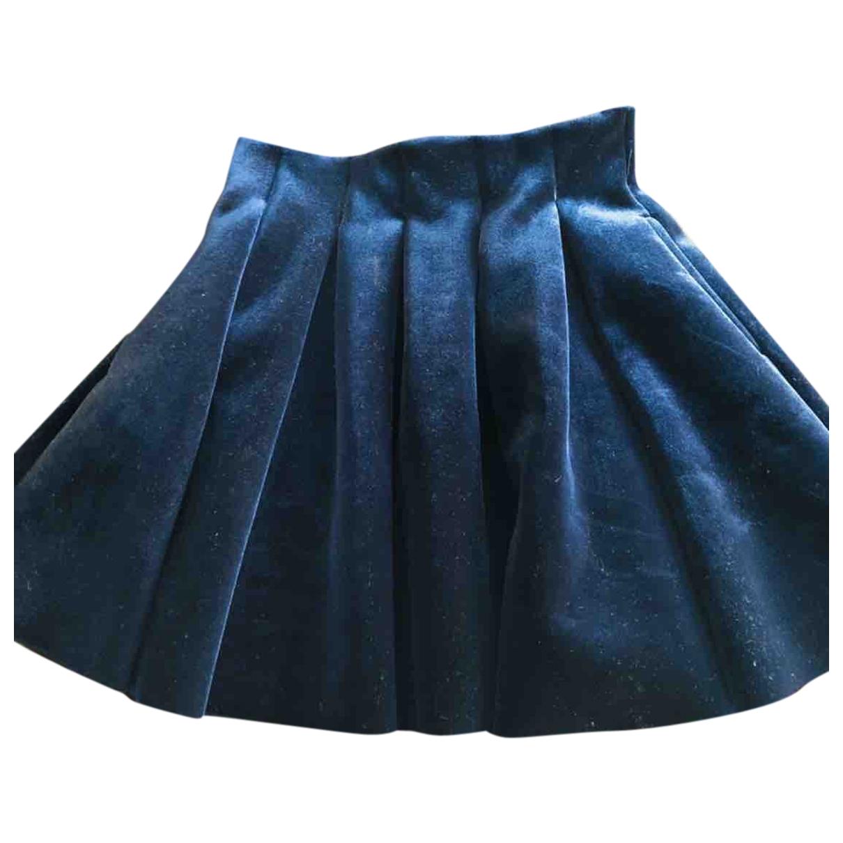 Maje \N Purple Velvet skirt for Women 40 FR