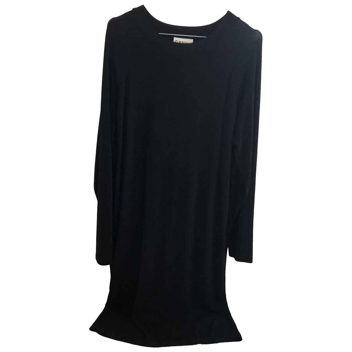 Ganni \N Kleid in  Schwarz Polyester
