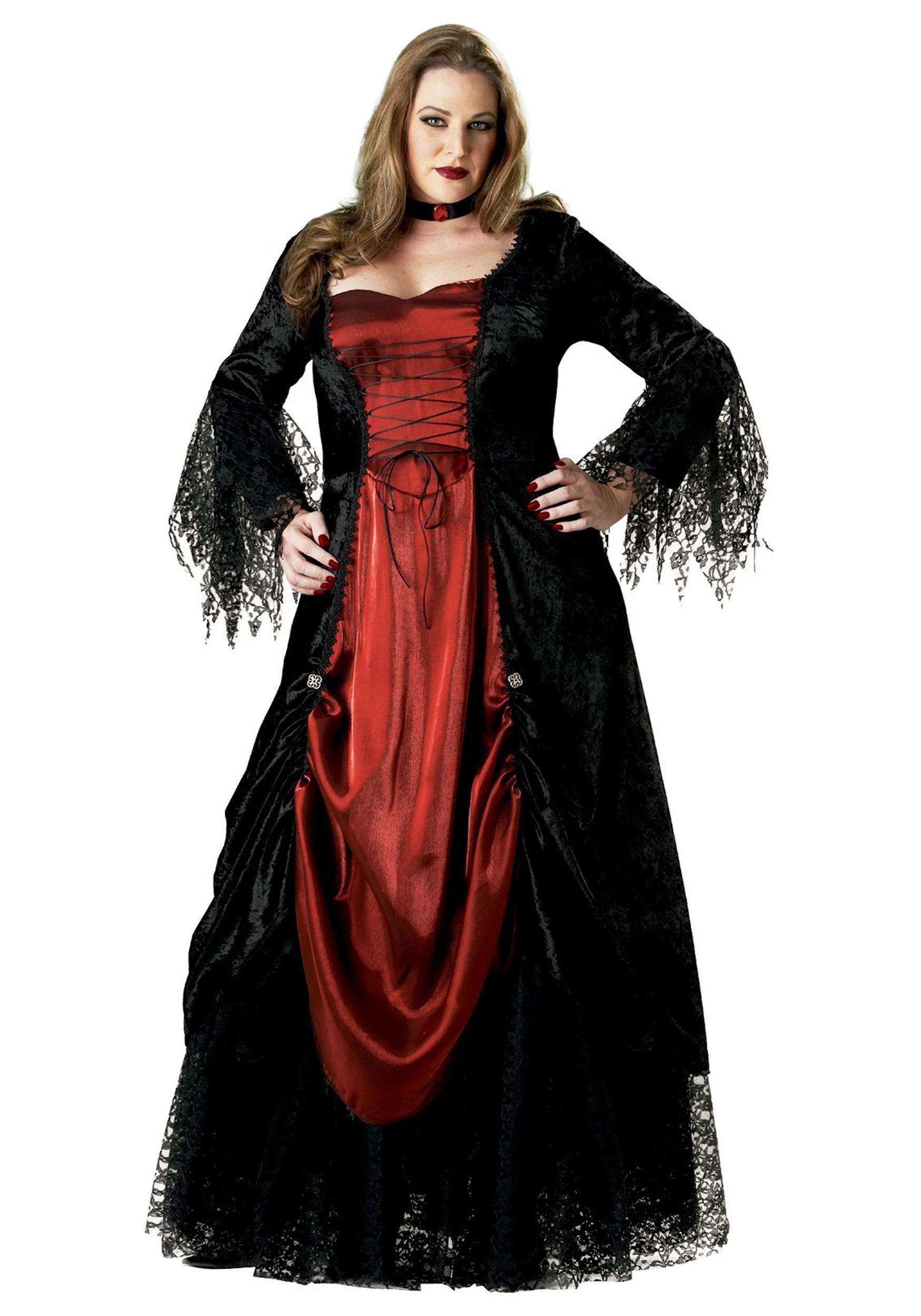 Womens Plus Size Vampire Costume