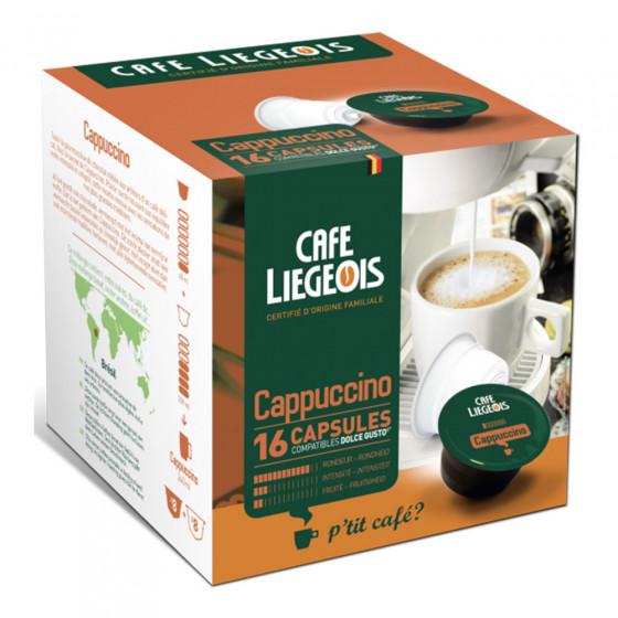 """Kaffeekapseln Cafe Liegeois """"Cappuccino"""", 8+8 Stk."""