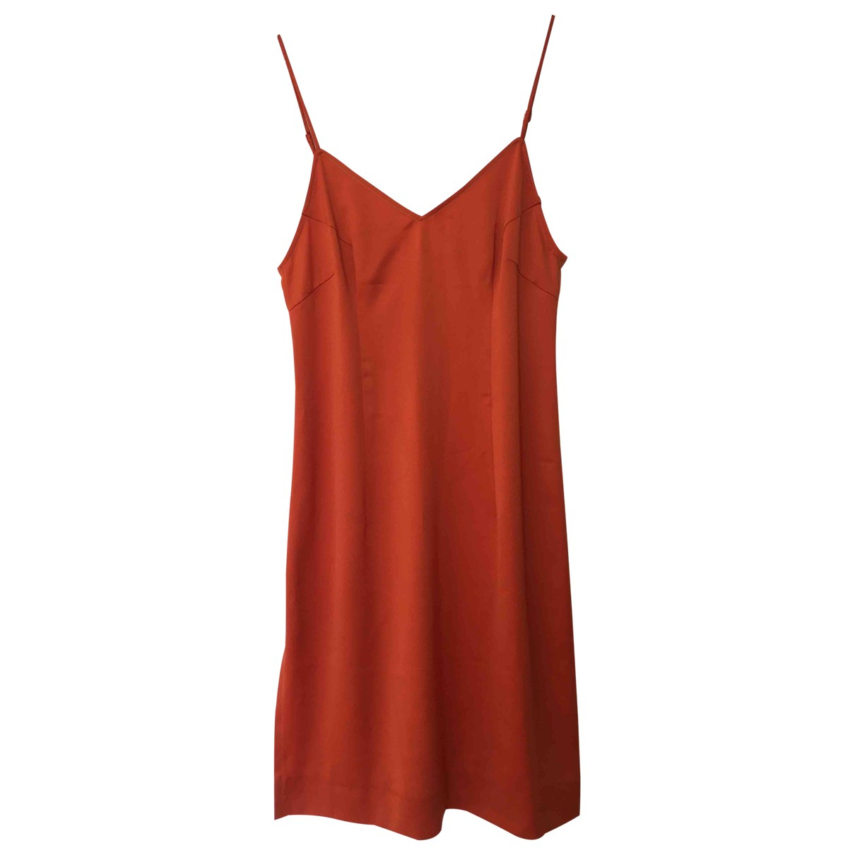 Non Signé / Unsigned N Orange dress for Women 38 FR