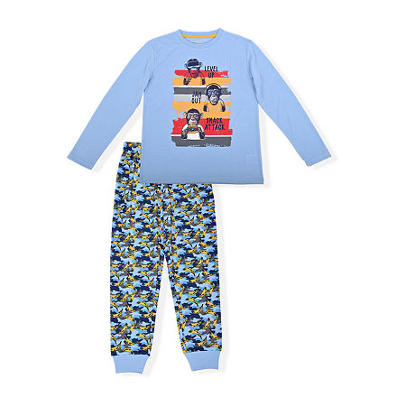 Sleep On It Big Boys 2-pc. Pant Pajama Set, 6-7 (s) , Blue