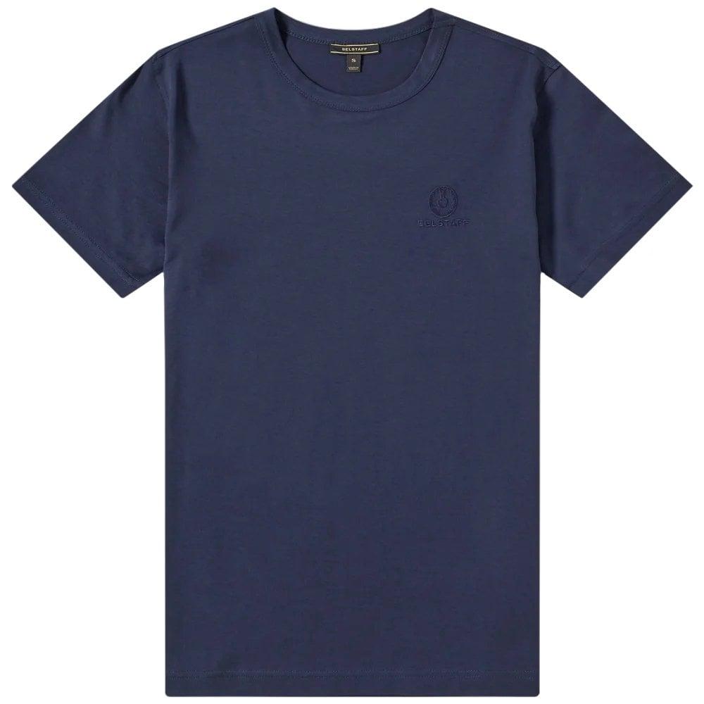 Belstaff Short Sleeve Logo T-Shirt Colour: NAVY, Size: LARGE