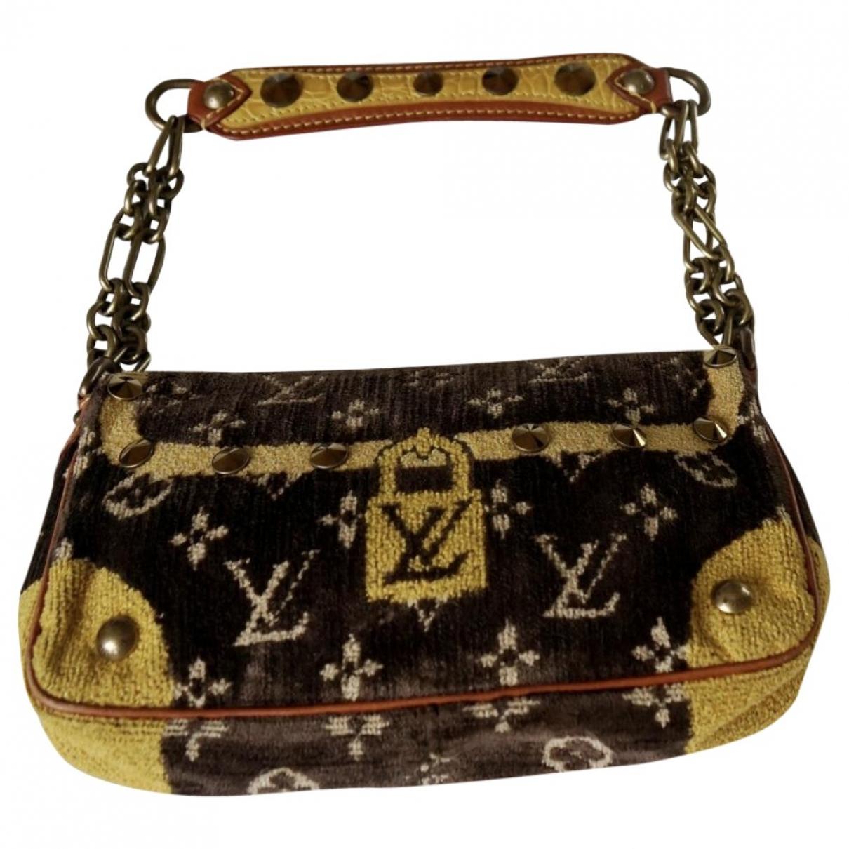 Louis Vuitton Trompe loeil Handtasche in  Braun Samt
