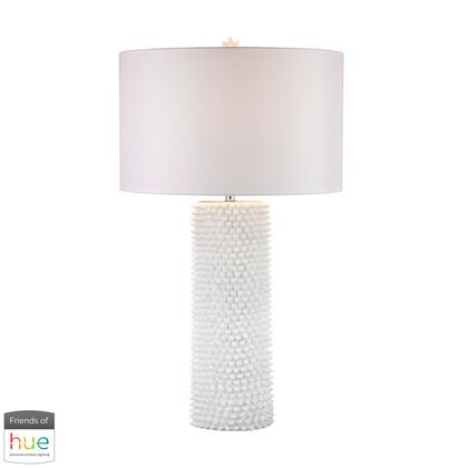 D2767-HUE-B Punk Table Lamp  In White - With Philips Hue LED