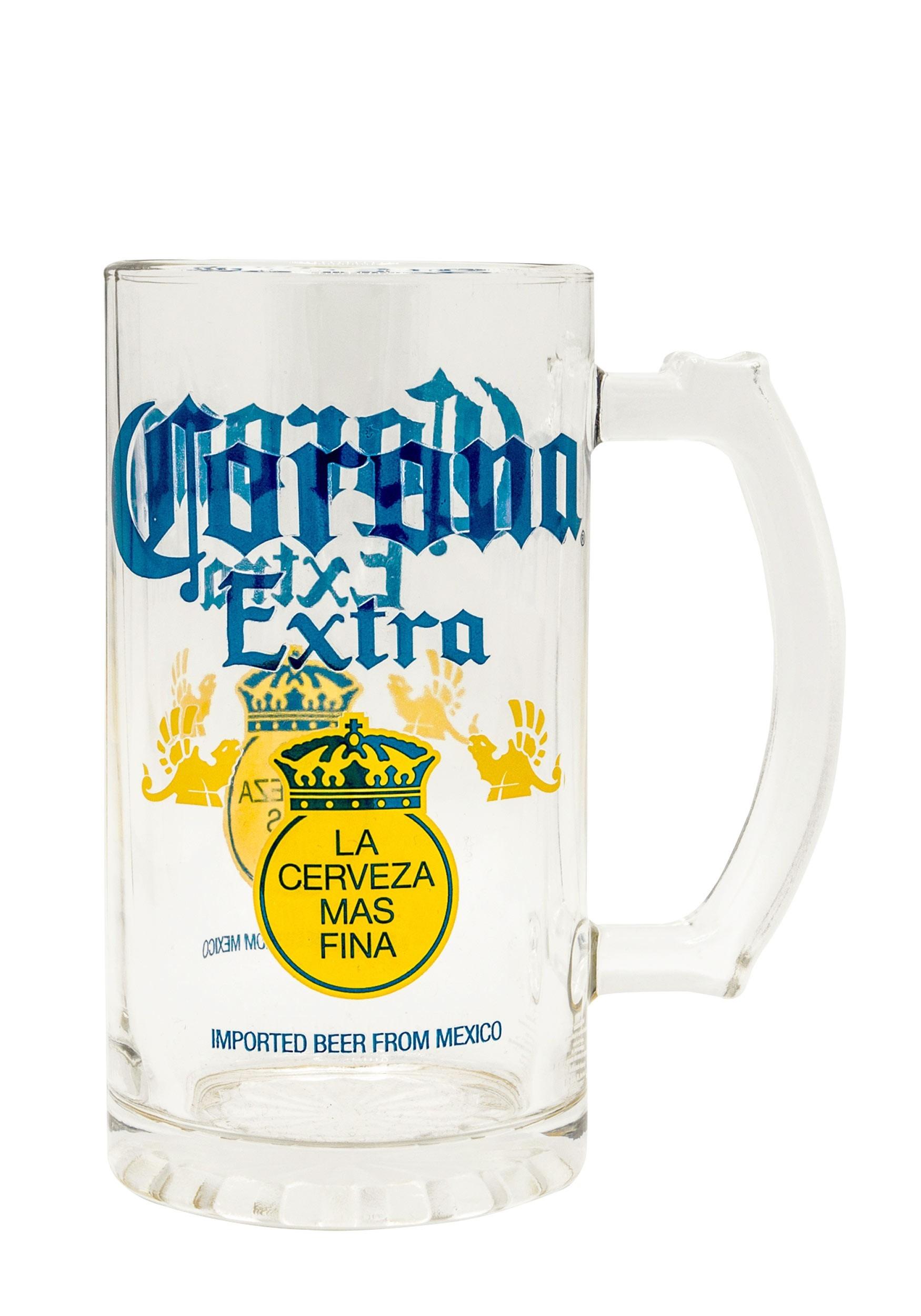 Corona Label 16oz Glass Beer Stein