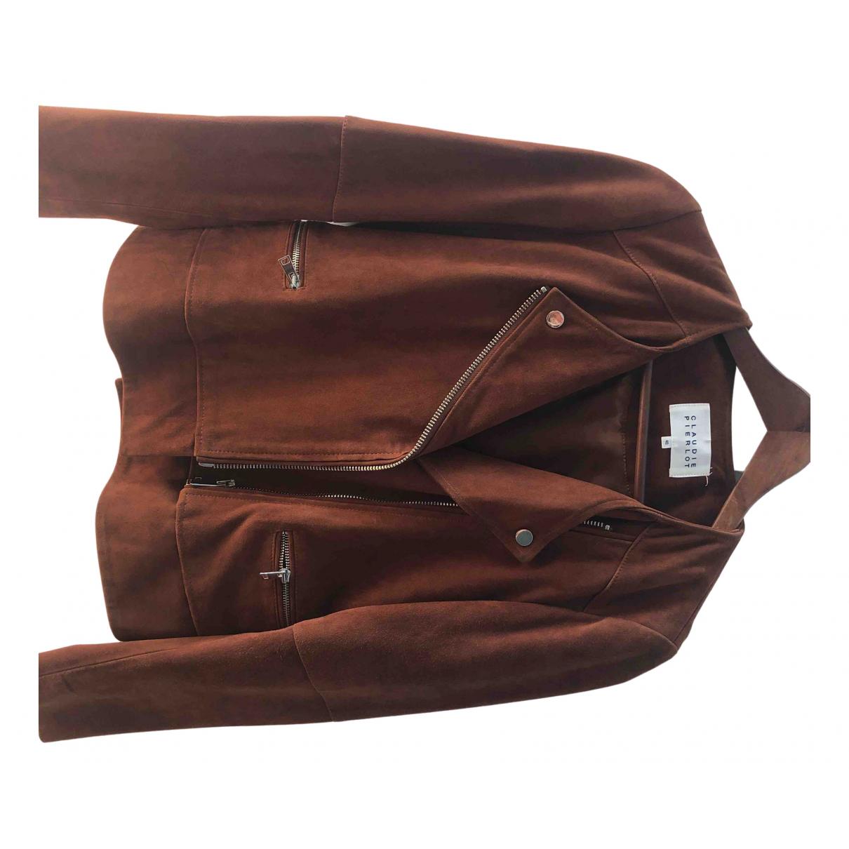 Claudie Pierlot N Brown Suede jacket for Women 40 FR