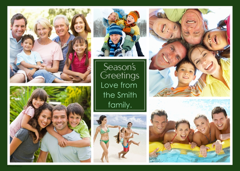 Holiday Photo Cards Flat Matte Photo Paper Cards with Envelopes, 5x7, Card & Stationery -Collage Season's Greetings