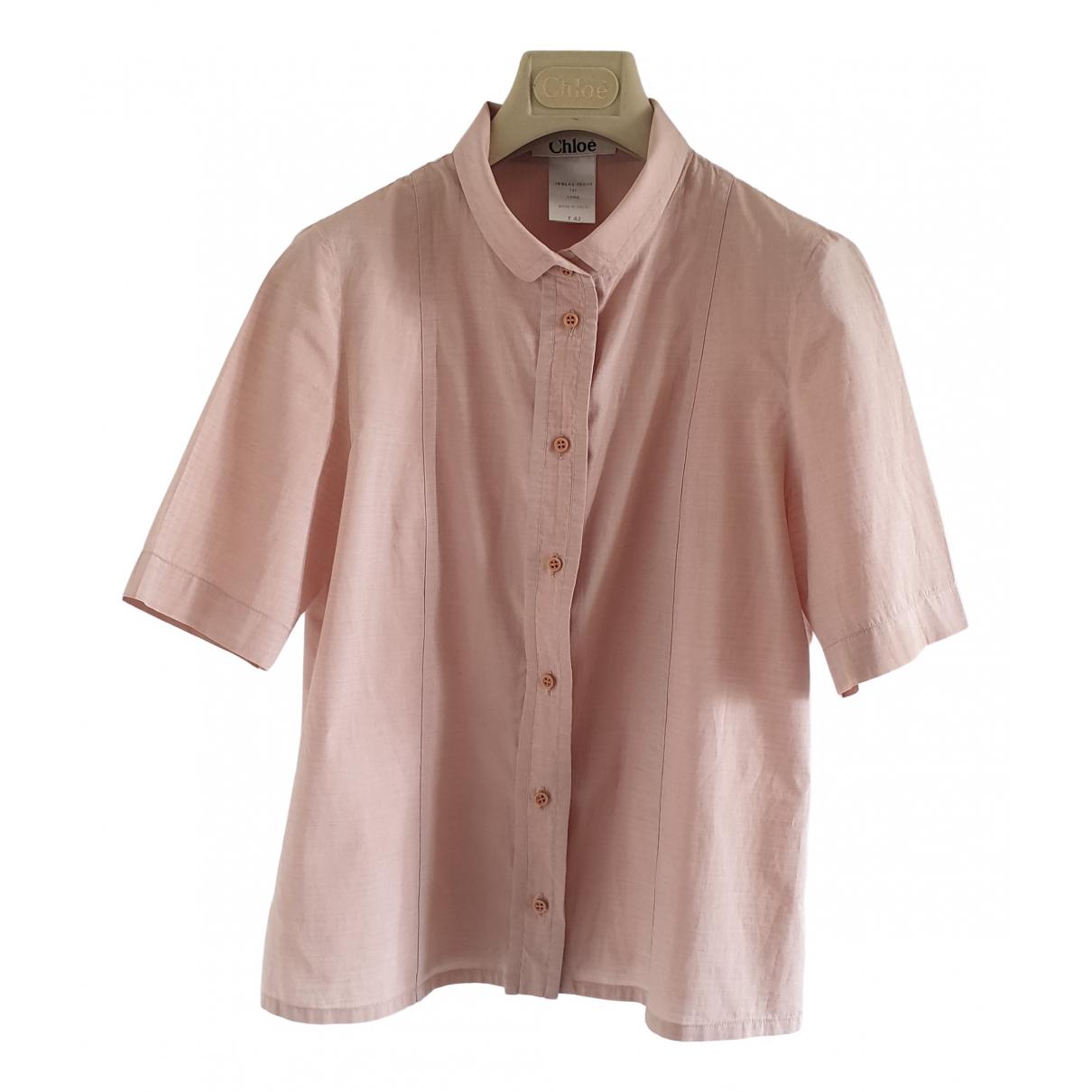 Chloé \N Pink Cotton  top for Women 42 IT