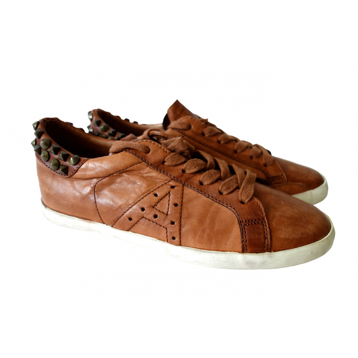 Ash \N Brown Leather Trainers for Women 37 EU