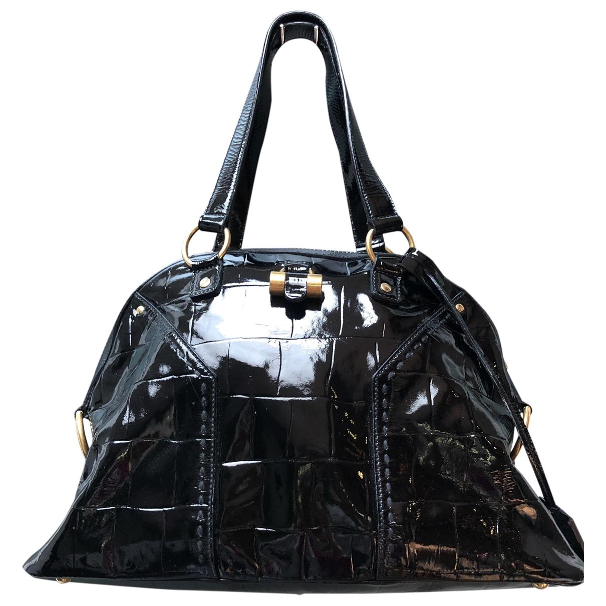 Yves Saint Laurent Muse Black Leather handbag for Women \N