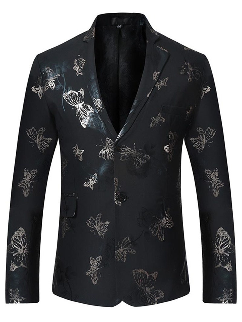 Ericdress Single-Breasted Casual Print Men's Leisure Blazers
