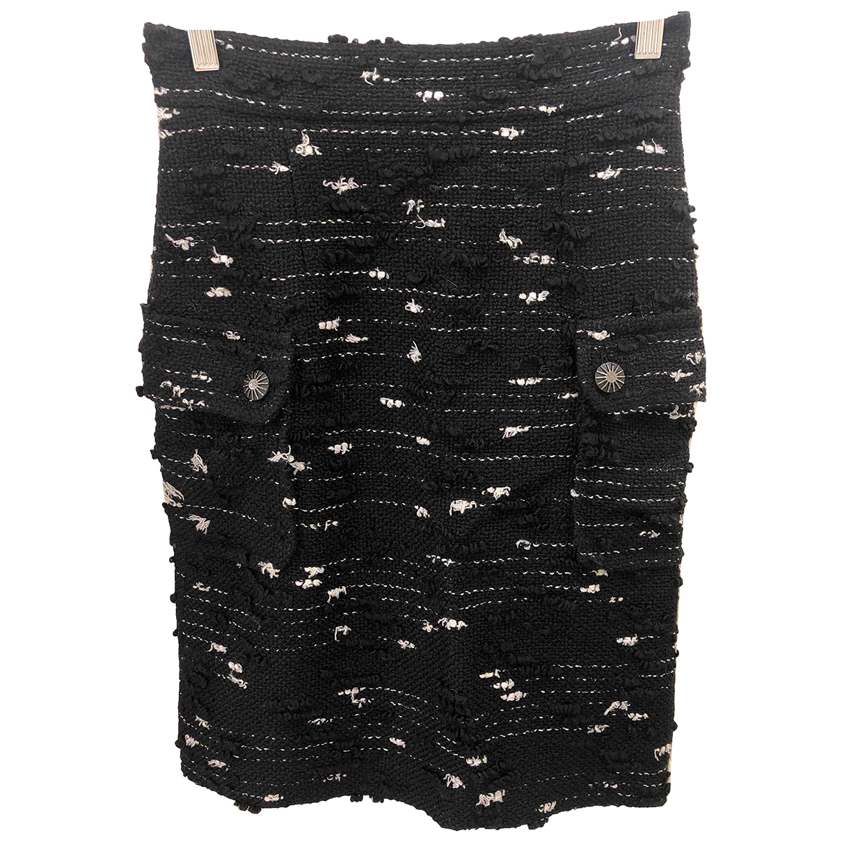 Chanel N Black Wool skirt for Women 36 IT