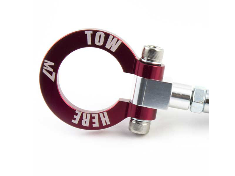 M7 Speed 5356-1M7301 Red Billet Aluminum Foldable Tow Hook with Logo Mini R52 Cooper S 05-08