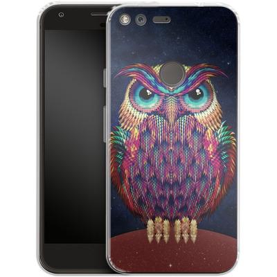 Google Pixel XL Silikon Handyhuelle - Owl von Ali Gulec