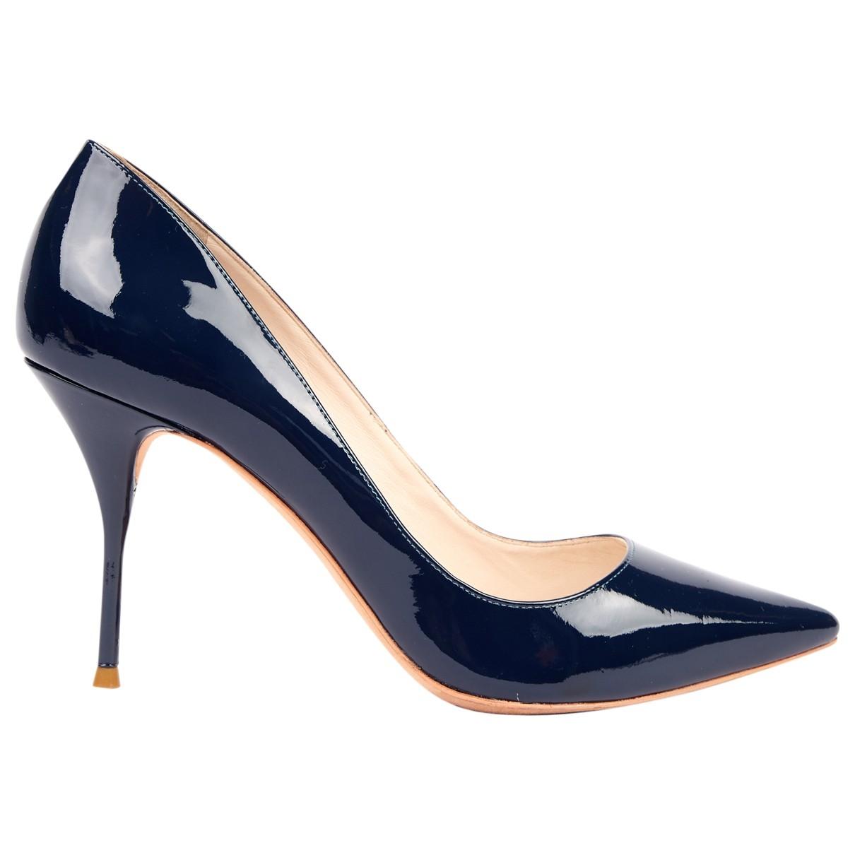 Sophia Webster - Escarpins   pour femme en cuir verni - bleu