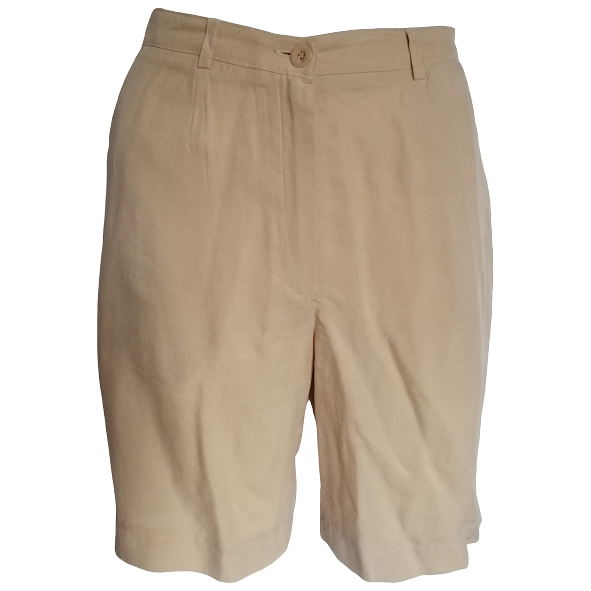 Non Signé / Unsigned \N Beige Shorts for Women 36 FR