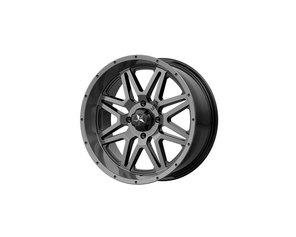 MSA Offroad Wheels M26-04710 M26 Vibe Wheel 14x7 4x4x110 +0mm Dark Tint