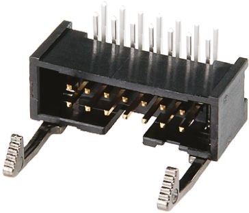 TE Connectivity , AMP-LATCH, 10 Way, 2 Row, Right Angle PCB Header