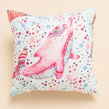 Dolphin Print Cushion Cover Without Filler