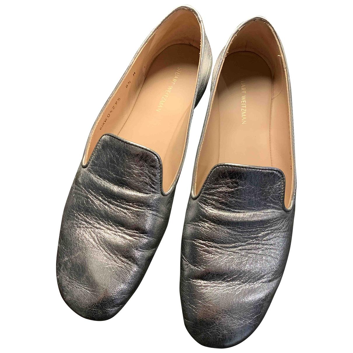 Stuart Weitzman \N Silver Leather Flats for Women 8.5 US