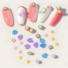 1box Shell & Flower Nail Art Decoration