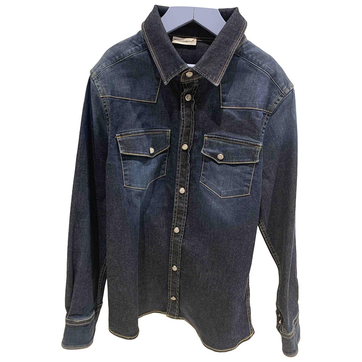 Dolce & Gabbana \N Jacke, Maentel in  Blau Denim - Jeans