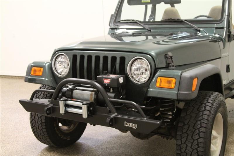 Rockhard 4x4 RH-4005-CX54 Black Mid Width Legendary Straight Up Hoop w/Tube Extensions Front Bumper Jeep CJ/YJ/TJ/LJ 76-06