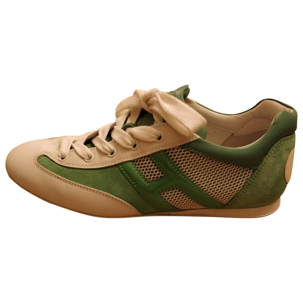 Hogan \N Sneakers in  Gruen Leder