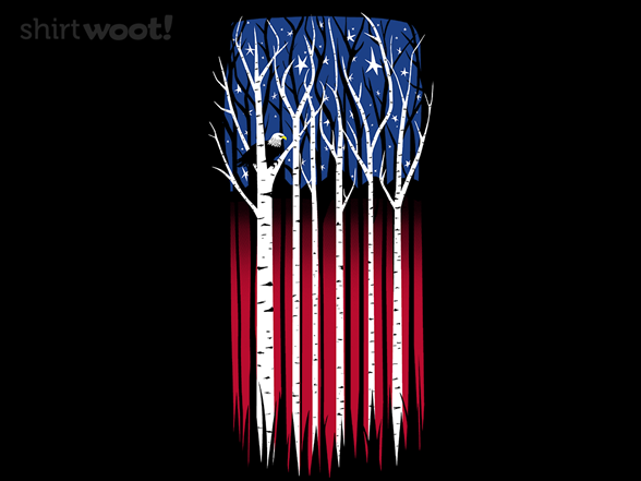 Star-spangled Forest T Shirt