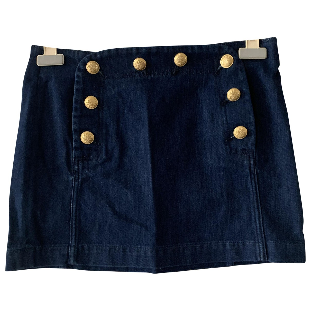 Sézane Spring Summer 2019 Blue Cotton skirt for Women 36 FR