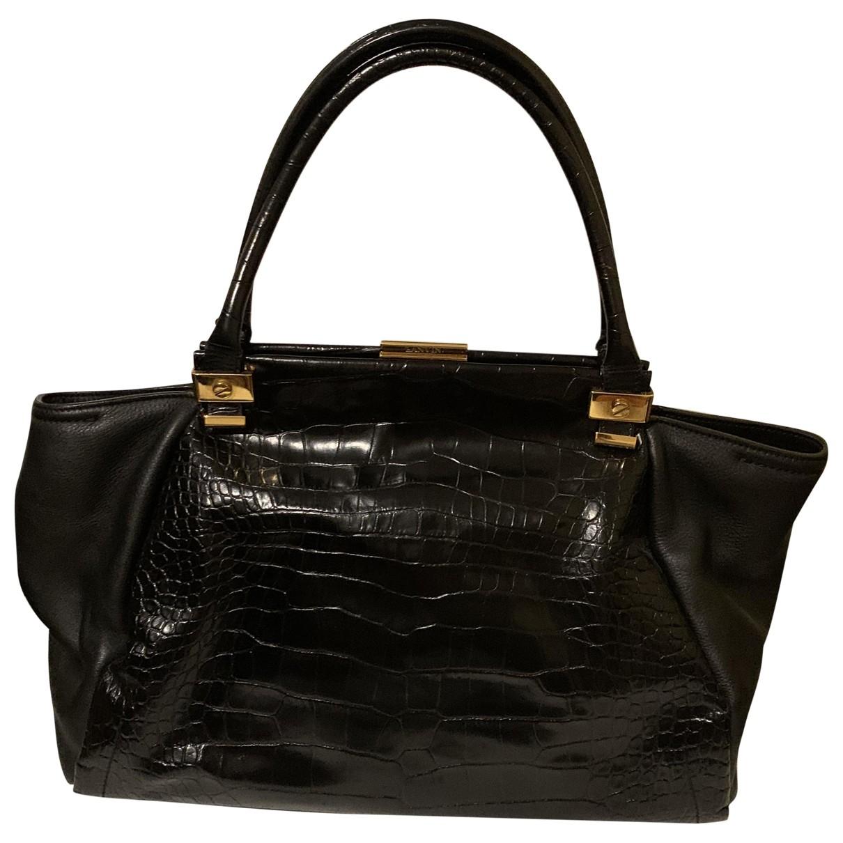 Lanvin \N Black Patent leather handbag for Women \N