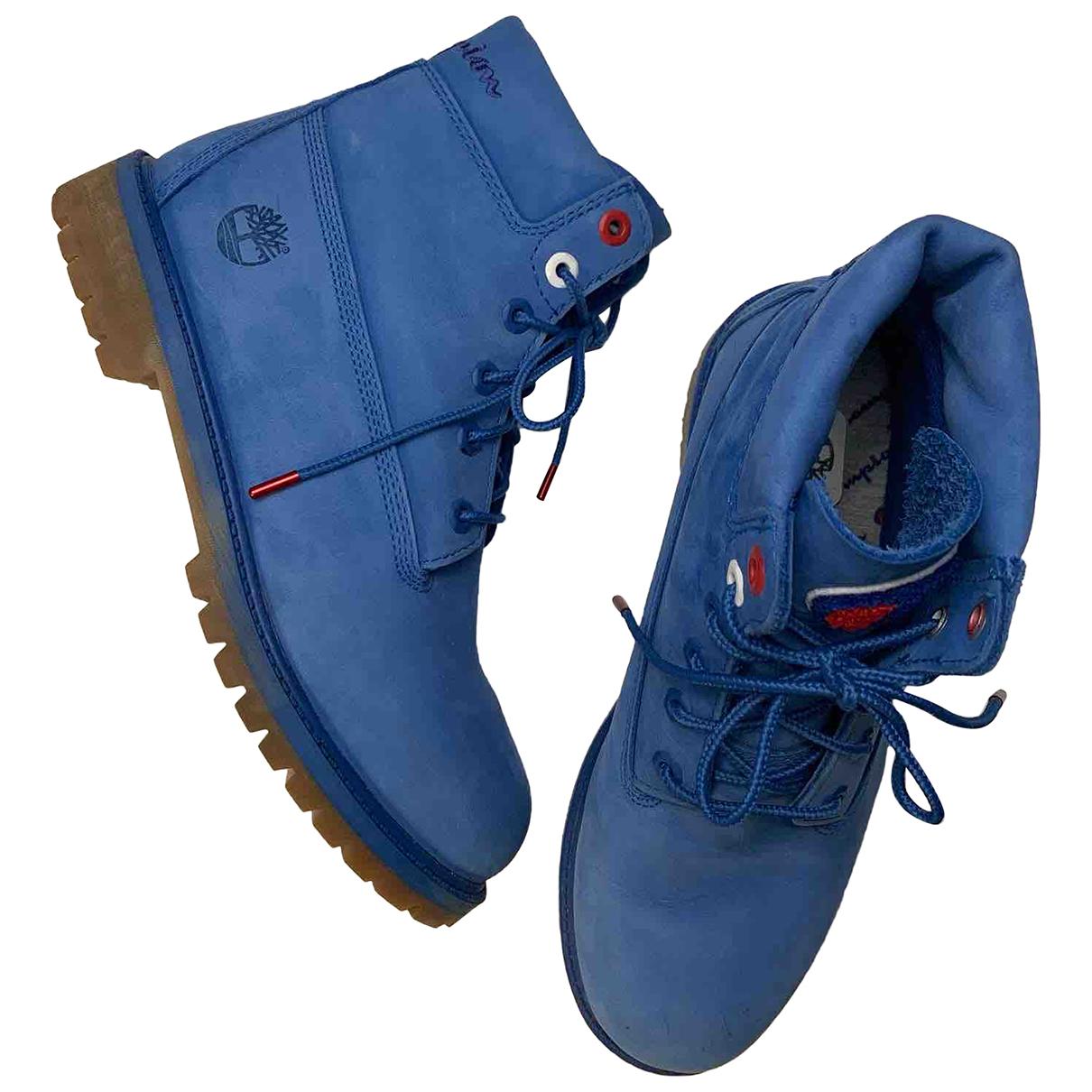Timberland \N Stiefel in  Blau Veloursleder