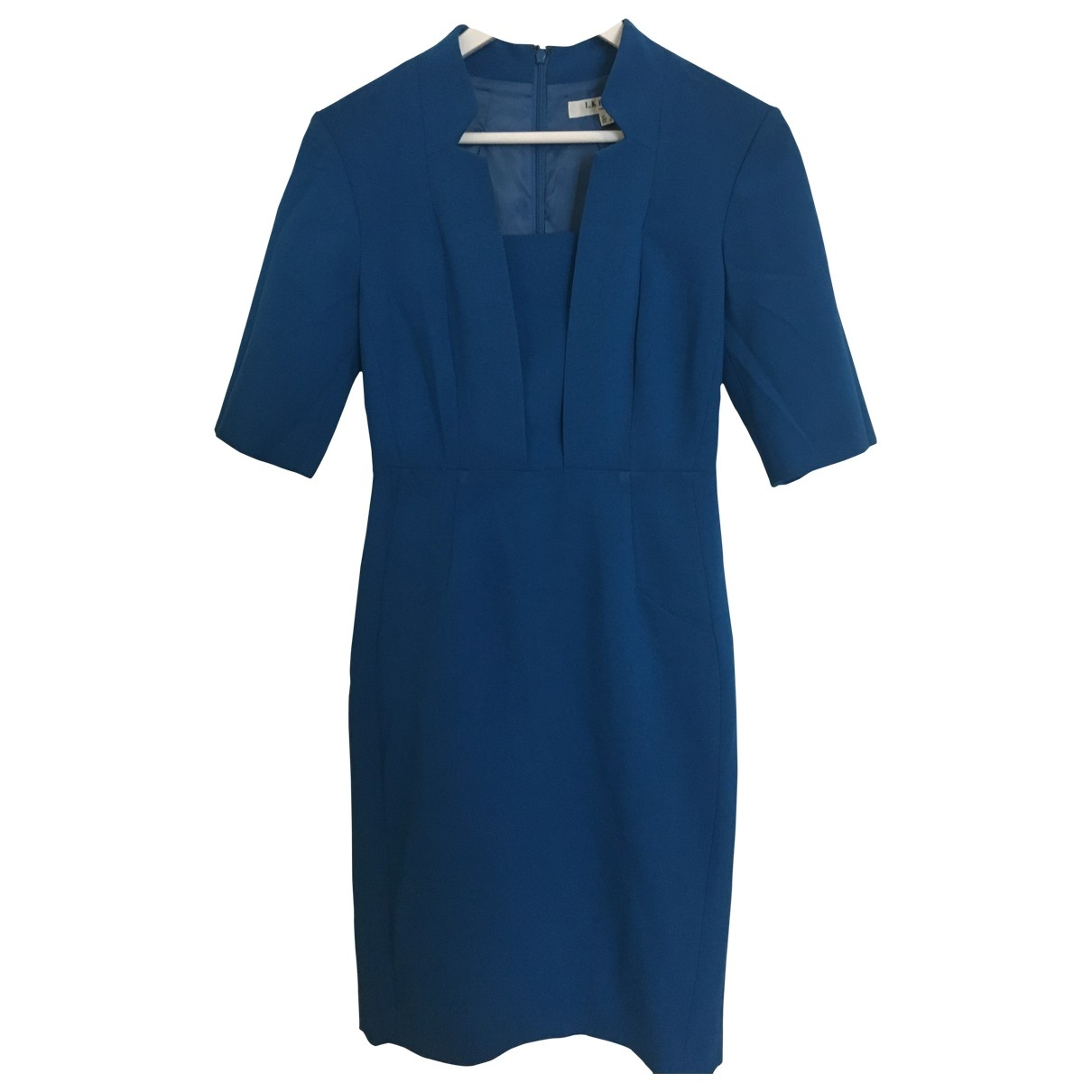 Lk Bennett \N Kleid in  Blau Synthetik