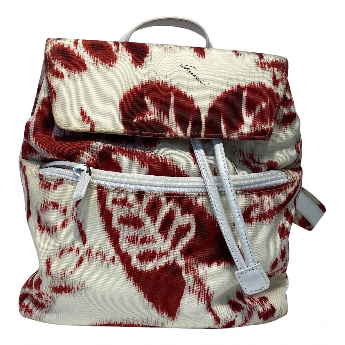 Gucci \N White Cloth backpack for Women \N